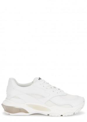 Valentino Garavani Bounce mesh and leather sneakers