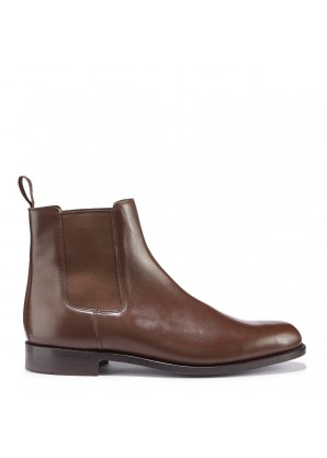 Hugs & Co Brown suede chelsea boots crepe rubber welted sole