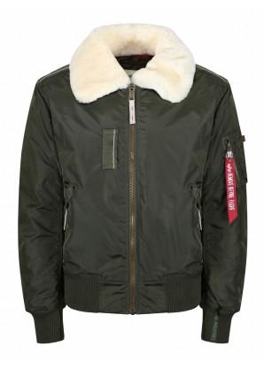 Alpha Industries Injector iii shell bomber jacket dark green