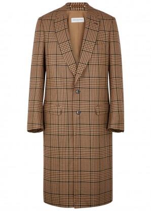 Dries Van Noten Reedley checked wool-blend coat