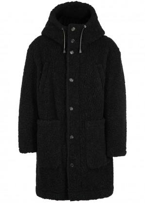 Dsquared2 Black faux shearling coat