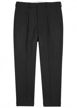 AMI Black straight-leg trousers