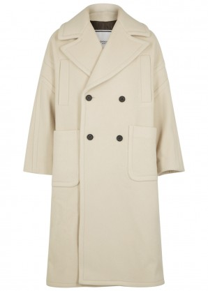 Wooyoungmi Ecru oversized wool-blend coat