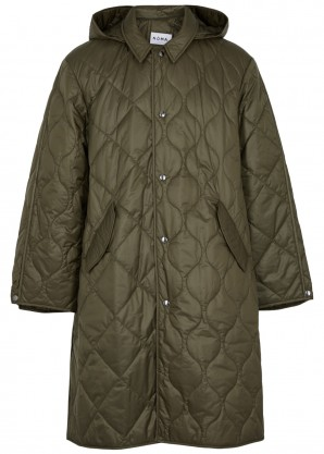 Noma T.D Army green quilted shell coat