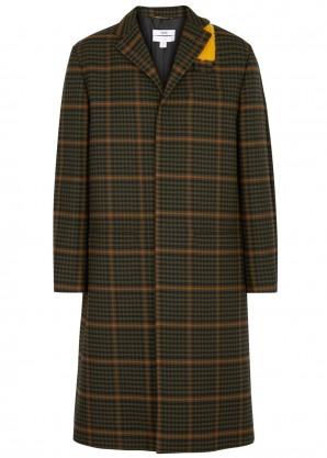 OAMC Green checked wool coat