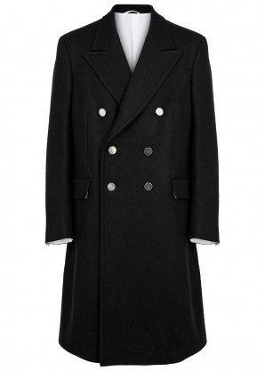 Calvin Klein 205W39NYC Black double-breasted wool coat