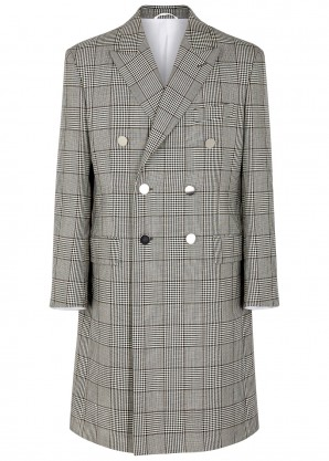 Calvin Klein 205W39NYC Checked houndstooth wool-blend coat