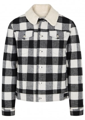 Calvin Klein Jeans Checked faux shearling-lined jacket