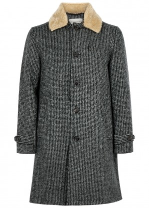 Oliver Spencer Beaumont charcoal wool coat