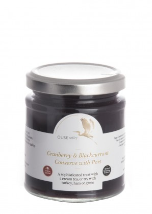 Ouse Valley Foods Cranberry & Blackcurrant Conserve with Port 227g