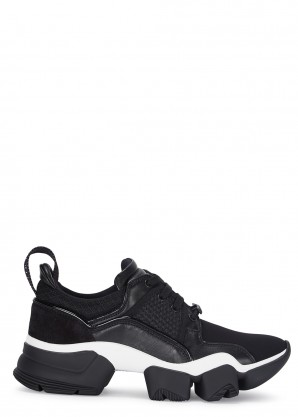 Givenchy Low Jaw black paneled neoprene sneakers