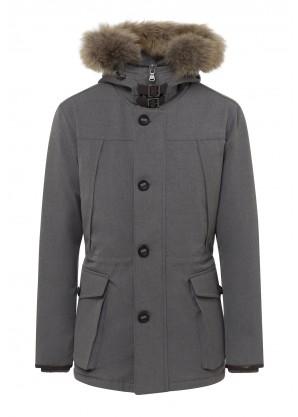 Hackett Arctic water-repellent parka coat