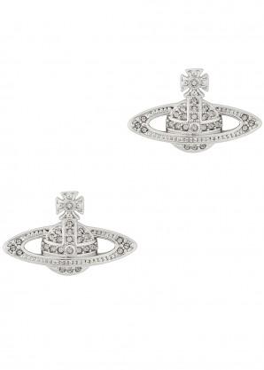 Vivienne Westwood Mini Bas Relief silver-tone earrings