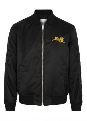 Kenzo Black embroidered shell bomber jacket
