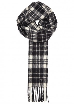 AMI Checked wool scarf