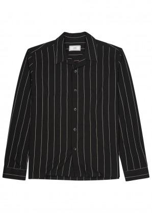 AMI Black striped shirt