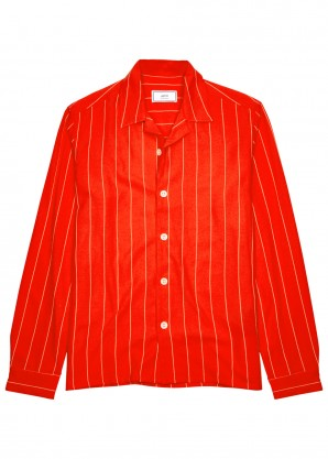 AMI Red striped shirt