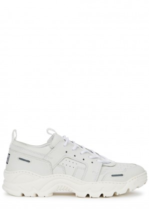 AMI Light grey suede trainers