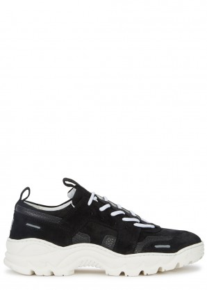 AMI Black suede trainers