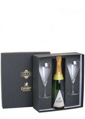Digby The Digby English Sparkling Wine Glass by Gurasu London Gift Set