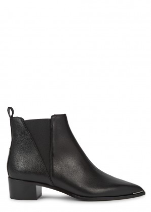 Acne Studios Jensen 40 black leather Chelsea boots