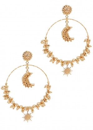 Luna Mega 24kt gold-plated hoop earrings