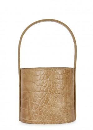 STAUD Bissett mini crocodile-effect bucket bag