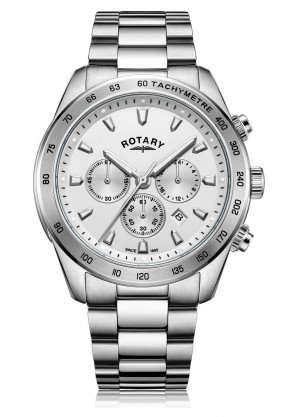 Rotary Watches White Henley Gents Chronograph Quartz