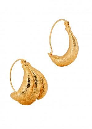 Vera gold-tone hoop earrings