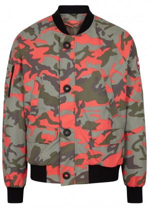 Canada Goose Faber camouflage shell bomber jacket