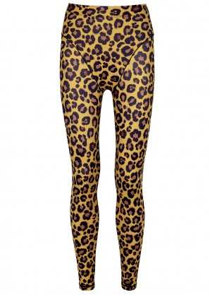 Adam Selman Sport Leopard-print stretch-jersey leggings