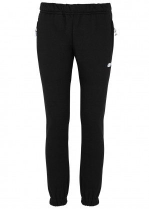 Adam Selman Sport Black cotton-blend sweatpants