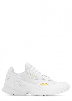 adidas Originals Falcon white panelled sneakers