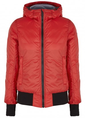 Canada Goose Dore red shell bomber jacket