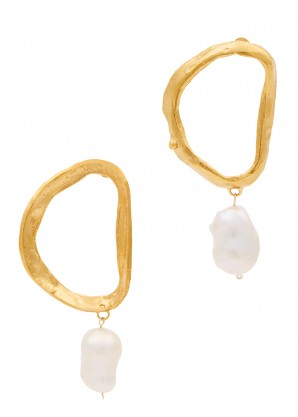 Dantes Shadow 24kt gold-plated earrings