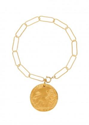 Il Leone gold-plated bracelet