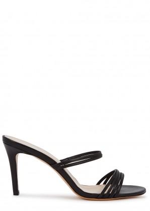 Kalda Simone 85 black leather mules