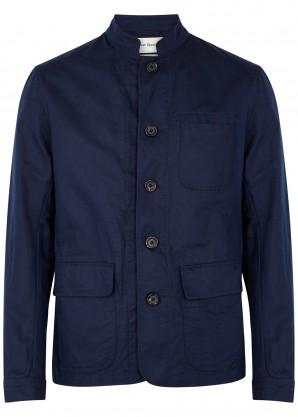Oliver Spencer Linton navy linen and cotton-blend jacket