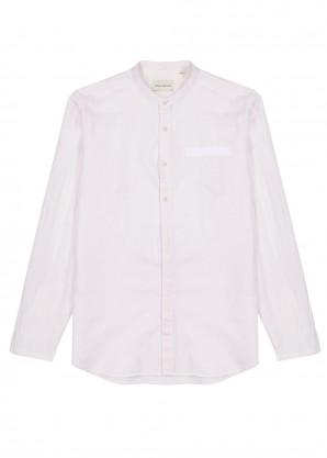 Oliver Spencer Ivory checked cotton-blend shirt