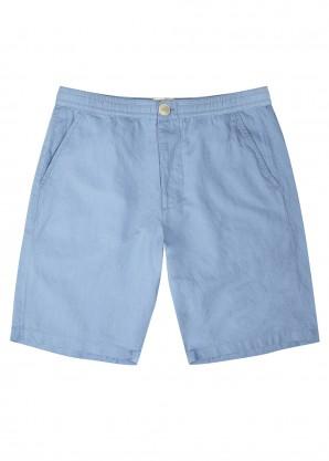 Oliver Spencer Light-blue linen-blend shorts