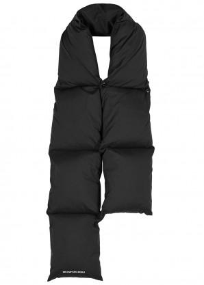 Black puffer scarf