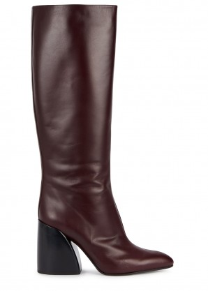 Chloé 70 burgundy leather knee boots