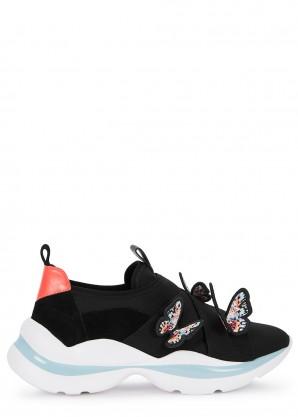 Sophia Webster Riva black butterfly sneakers