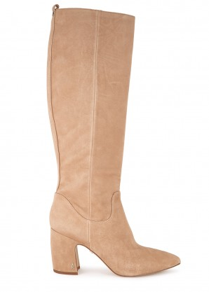 Sam Edelman Hai 90 camel suede knee-high boots