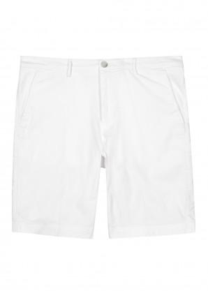 BOSS White stretch-cotton chino shorts