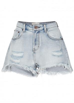 Legend distressed denim shorts