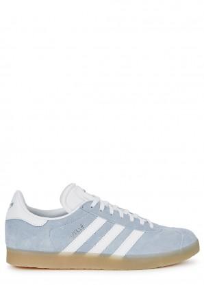 adidas Originals Gazelle blue suede sneakers