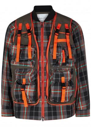 White Mountaineering Multicoloured shell jacket