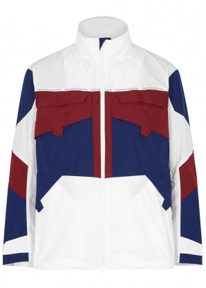 White Mountaineering Colour-blocked water-resistant shell jacket