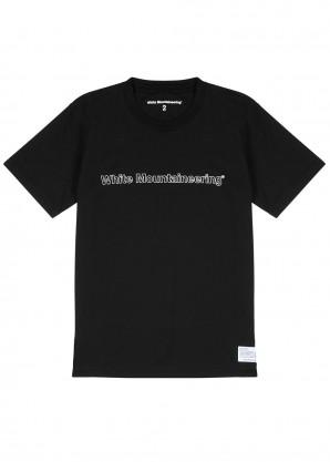 White Mountaineering Black cotton T-shirt